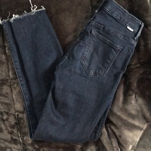 Mother looked ankle fray jeans